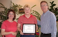 """<img src=""""image.gif"""" alt=""""Pamela Receives an Award from SAF"""" />"""