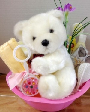 baby girl basket unwrapped
