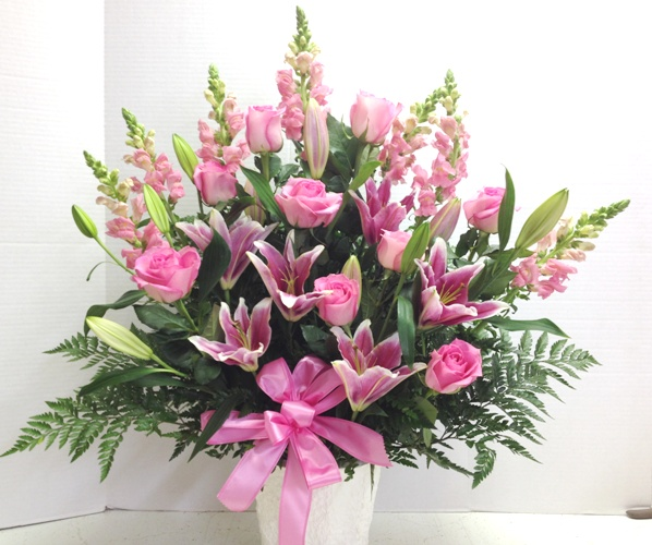 Pink funeral flowers delivered phoenix az all pink funeral flowers mightylinksfo Images