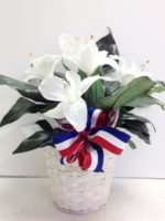 patriotic peace lily