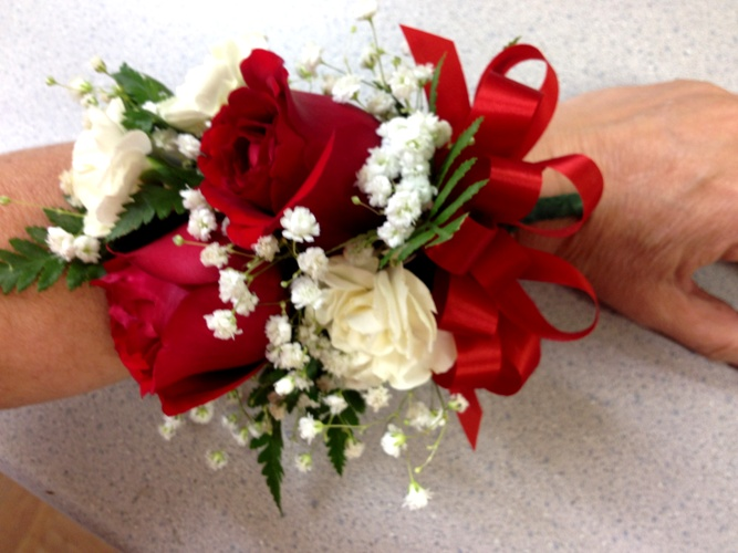 red corsage