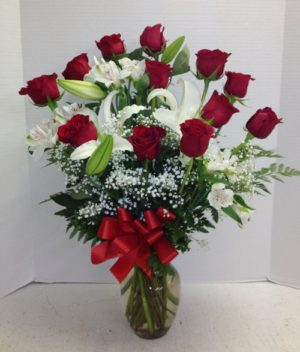roses lilies alstro