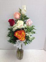6 happy roses