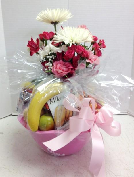 Baby gift basket flowers : Baby fresh fruit gift basket flowers phoenix az