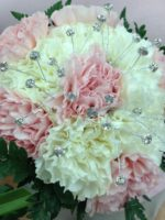 bridal bouquet pink carns