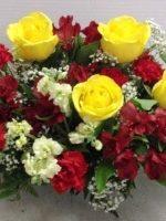 75th anniversary flower centerpiece