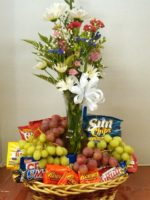 Candy and fruit Gift Basket