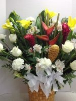 tropical and carnation flower mix