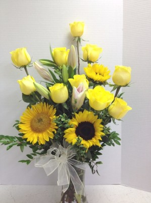 """<img src=""""image.gif"""" alt=""""This is Special for Tony Yellow Roses and Sunflowers"""" />"""