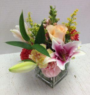 cube flower display