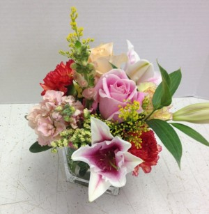 cube flower display
