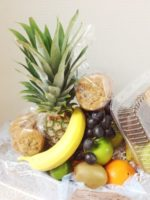 unwrapped Fruit gift basket