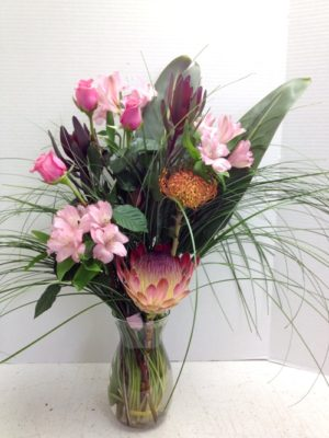 whispy flower display in vase
