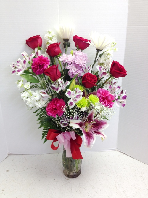 anniversay flower arrangement