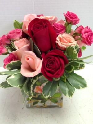 cube flower bouquet