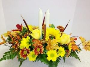 fall floral centerpiece