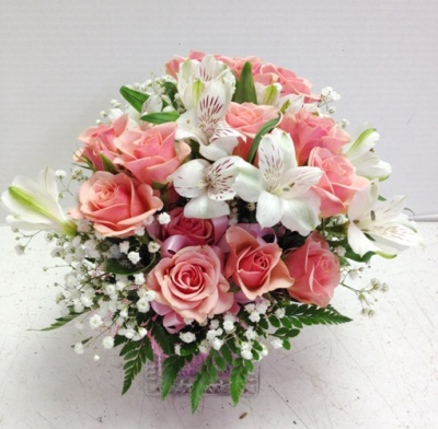 """<img src=""""image.gif"""" alt=""""This is a Small Short Pink Arrangement"""" />"""