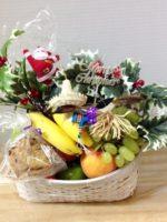 christmas fruit with santa