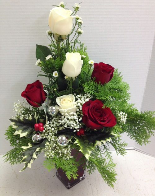 elegant cheer holiday flower display