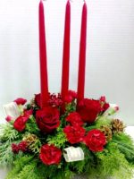 3 candle centerpiece