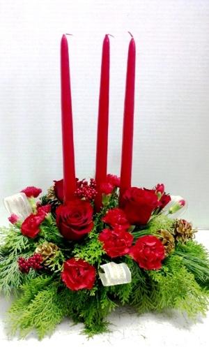 3 candle centerpiece