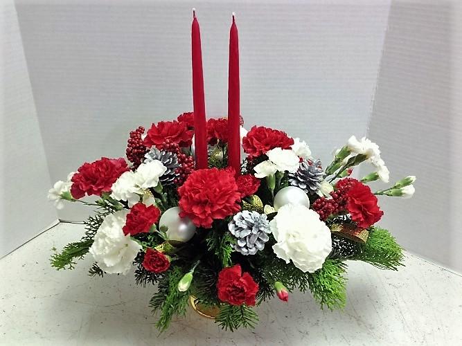 Christmas carnations centerpiece florist phoenix