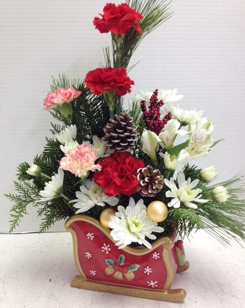 Ho Ho Ho Christmas Flowers