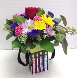 Birthday Candle Vase Flower Display