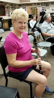 Pamela plays the Clarinet