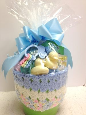 baby basket wrapped