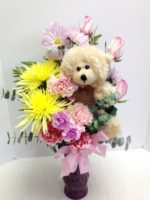 Teddy Bear and Flowers