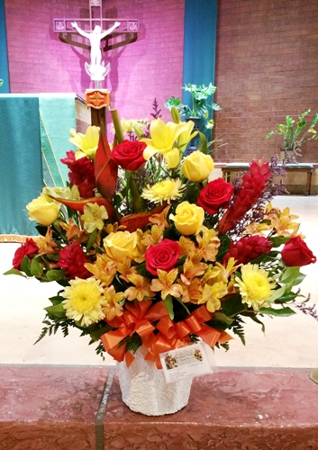 Colorful Funeral Flowers
