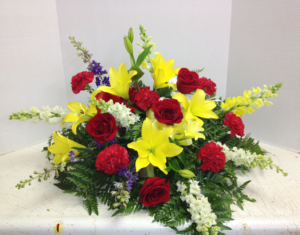 Casket Cover with Lilies