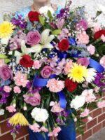 Garden Funeral Casket Cover flowers
