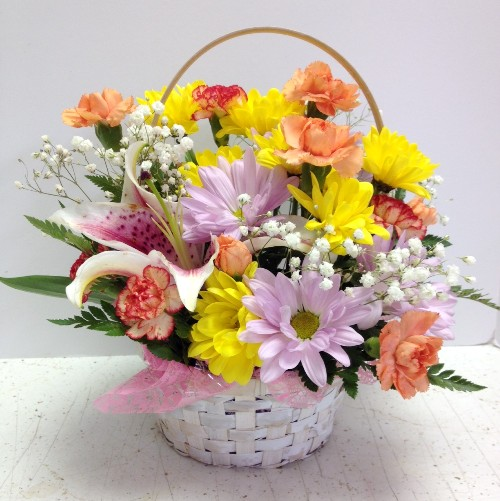 Remember this Spring Basket of Flowers