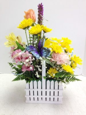 Sentimental Home Picket Fence Bouquet