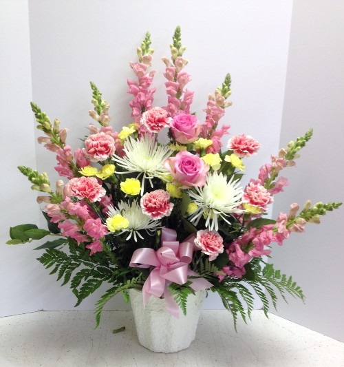 Serendipity Pink Funeral Flowers