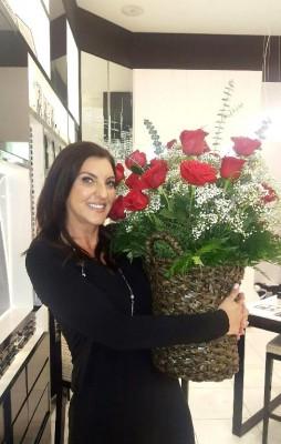 Testimonial: Holding 36 roses