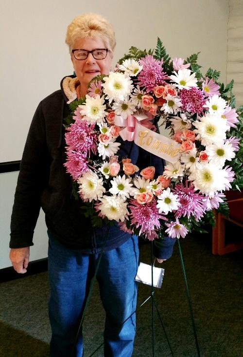 Sympathy floral wreath