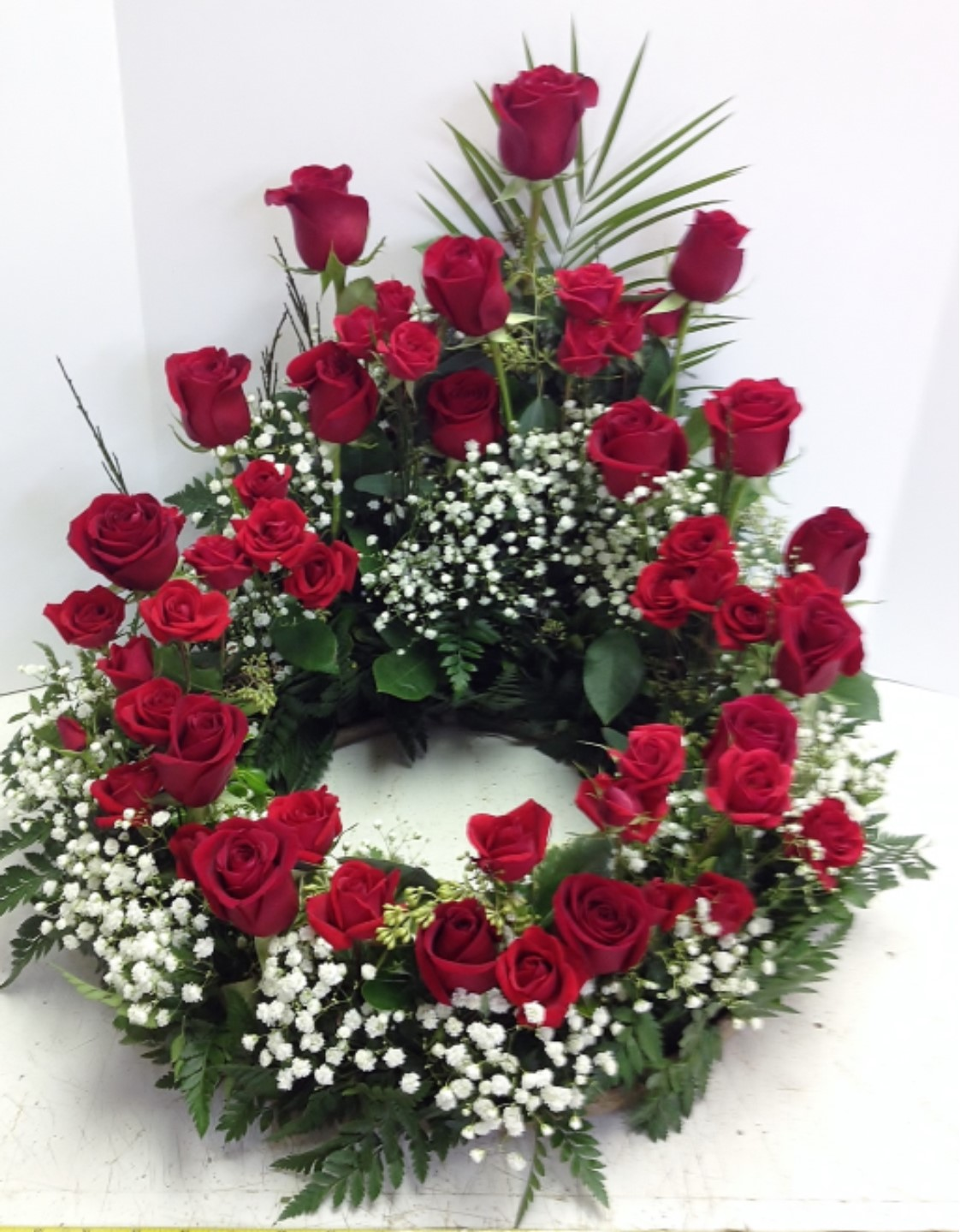 Roses Surround the Urn