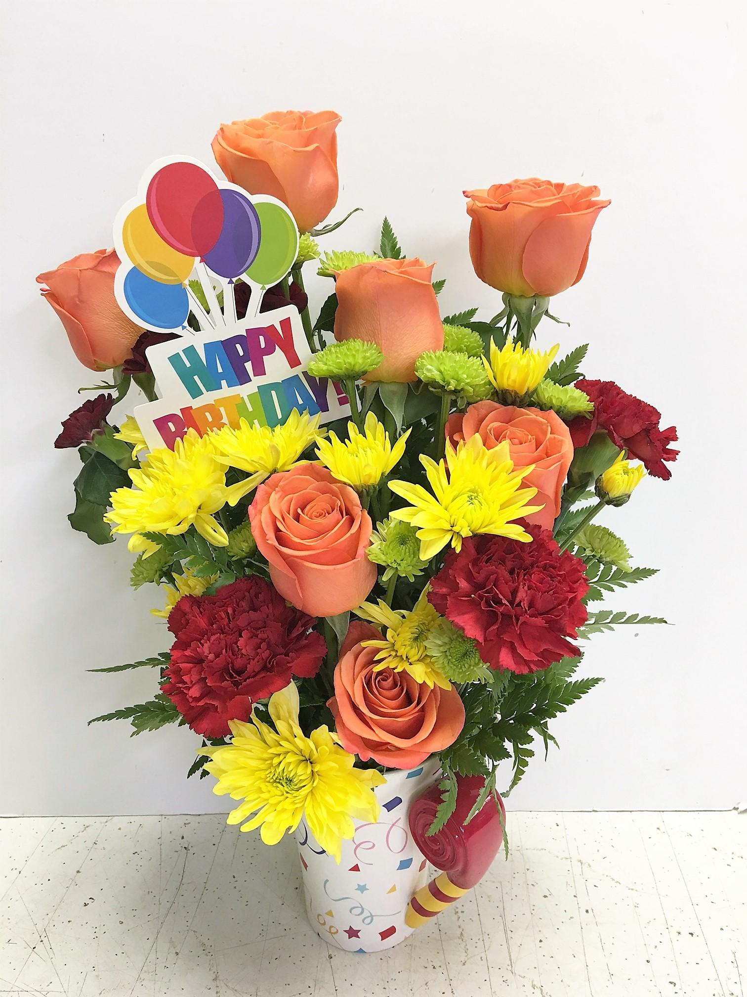 Happy Birthday\'s Fun | $75-$99.99, Birthday: Bouquets | Flowers for ...
