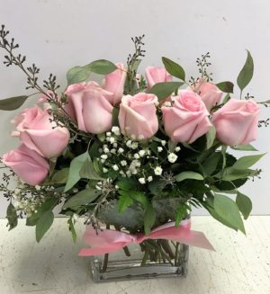 Contemporary pink roses