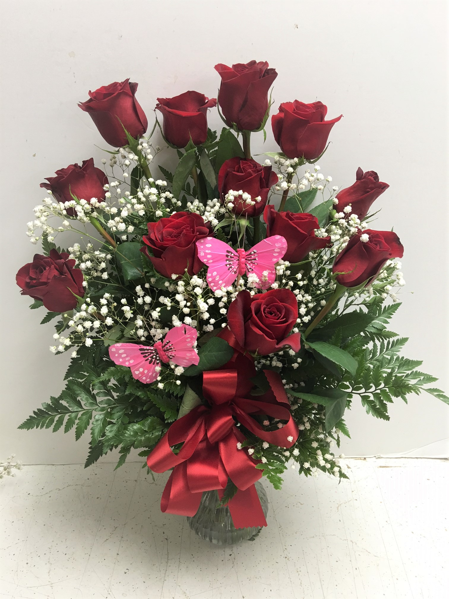 Butterfly Rose Garden 100 14999 Birthday Bouquets For Her