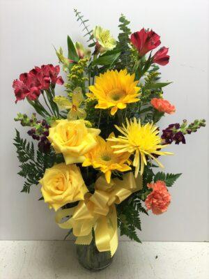 Men love flowers too