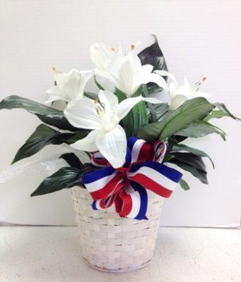 Patriotic silk flowers