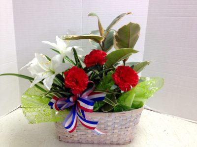 RWB Silk flowers