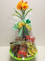 Spring gardening gift basket
